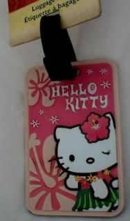 Cute Sanrio Hello Kitty Rubber Travelling Luggage Tag
