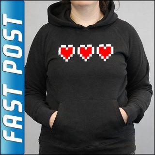 Valentines Day 3 Hearts Zelda Black Hoodie Top Hoody Valentines Gift