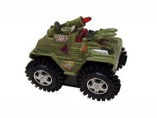 TANK Flip Over Four Wheel Drive Military Army Truck Vehicle Play Toy