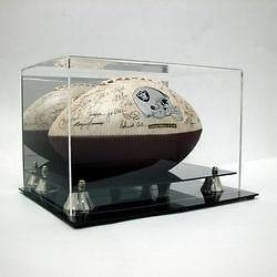 full size fooball display case in Auographs Original