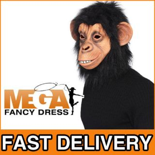 Full Overhead Mask Fancy Dress Planet Of the Apes Adult Costume Acc