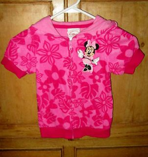 DISNEY MINNIE MOUSE PINK FLEECE COVER UP WITH HOOD   Size 4T  Front