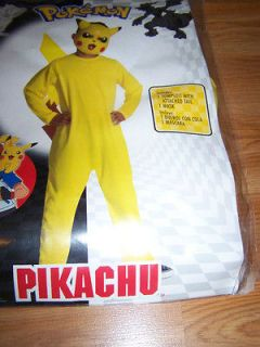 Boys Size Medium 8 Pokemon Pikachu Halloween Costume & Mask Dress Up