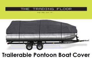 Trailerable Pontoon Boat Cover 17 to 20