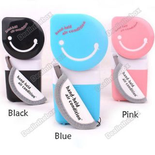 USB Mini Portable Handheld Air Conditioner Cooler Fan 3 Color