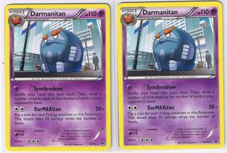 DARMANITAN X2 60/99 Rare Pokemon cards B&W Next Destinies new!