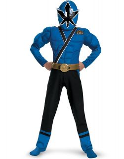 Power Ranger Blue Ranger Samurai Classic Muscle Child Halloween
