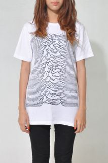Unknown Pleasures Joy Division Women White T Shirt