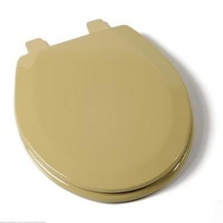 Deluxe Molded Round Wood Toilet Seat Harvest Gold