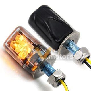 High Power Black Motorcycle Mini Amber LED Turn Signal Lights Blinker