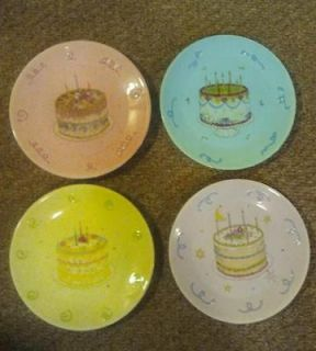 2003 Presidents Club BIRTHDAY Gift Collection CELEBRATION Cake PLATES
