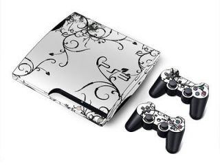 Sticker Skin Cover For Sony PS3 Slim Console & 2 Controller Skin US