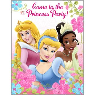 Princess INVITATIONS Birthday Party NEW Design Fanciful Princess