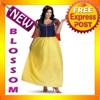 C536 Snow White Deluxe Disney Plus Size Fancy Dress Halloween Costume