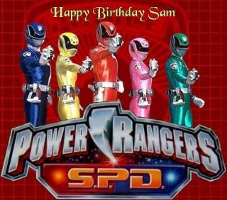 Power Rangers SPD Edible Image Cake Topper Personalized 1/4 sheet