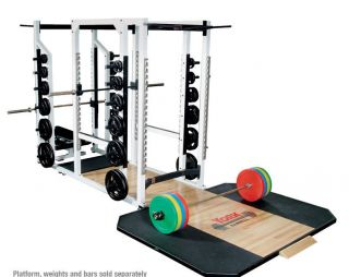 Triple Combo Rack Power Home Gym Squat Cage Smith Machine Weight