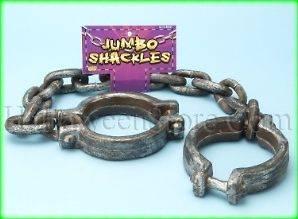 Jumbo Shackles Prisoner Convict Jailbird Accessory