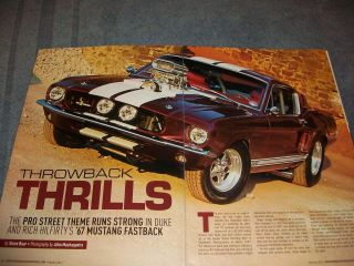 1967 Mustang Fastback Pro Street Article Throwback Thrills