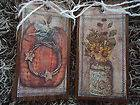 10 WOODEN PRIM Hang Tags, Country Gift Tags, Twig Tree Ornaments, Bowl