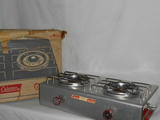 Vintage Coleman Model 5409 731 Two Burner LP Gas Aluminum Camp