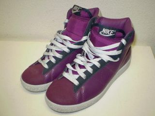 Recognition High Top Basketball Shoe Purple/Silver Leather Womens 7
