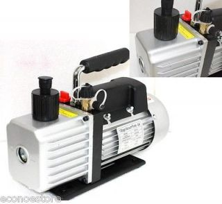 5CFM Rotary Vane Vacuum Pump 1/4HP Refrigerant HVAC R134a R410a R22