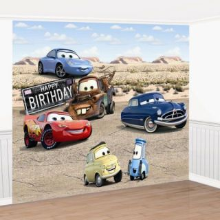 DISNEY CARS BIRTHDAY PARTY WALL MURAL DECORATING KIT