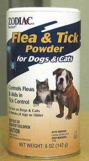 ZODIAC POWDER KILLS FLEAS EGGS TICKS MITES DOG OR CAT TICK BUGS FREE