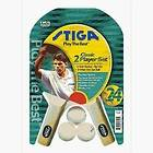 Stiga 2 Player Table Tennis Racket Set (Pips Out) T133