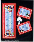 SNOWMAN & PENQUIN TABLE RUNNER & PLACEMATS Pattern ~~ Quilting PATTERN