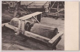 Cooperstown New York Postcard Farmers Museum Weighted Log Land