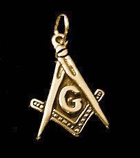 freemason Symbol Gold Plated Pendant Charm Free mason Secert Society