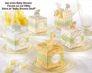 Baby Shower Favor Boxes   Jungle Theme   Set of 24   For Baby Shower