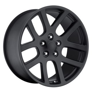 20 SRT10 Dodge Ram Dakota Durango Wheels Rims Set Satin Black
