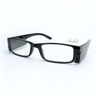 50 LED Light Reading Glasses With A Push Of A Button Black Slim