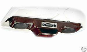 GOLF CART OVERHEAD RADIO CONSOLE   FACTORY SECONDS   DARK WOODGRAIN