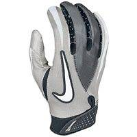 new mens/adult sz XL Nike vapor jet receiver gloves/pair grey nwot