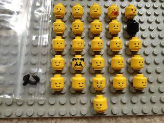 HUGE LEGO MINI FIGURE LITTLE PEOPLE HEAD ONLY LOT STAR WARS+HARRY