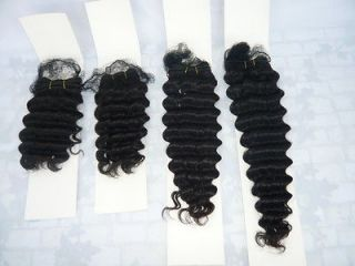 Brazilian Remy Virgin Deep Wave hair weft extension track beauty weave