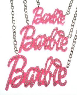NEW Nicki Minaj Pink Barbie w/ Stone Bling Necklace