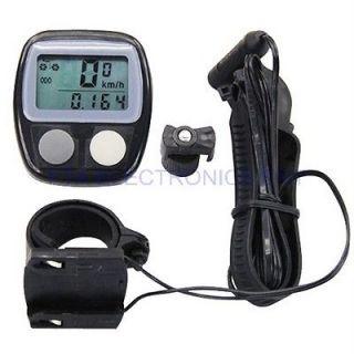 LCD Bicycle Bike Computer Speedometer Cycle Odometer Waterproof with