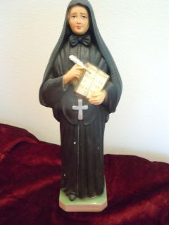 ANTIQUE RELIGIOUS STATUE ST FRANCIS XAVIER CABRINI CATHOLIC OLD