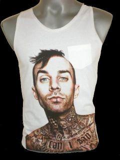 Travis Barker Blink 182 Drummer Singlet Tank Top T shirt Vest