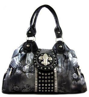fleur de lis rhinestone in Handbags & Purses