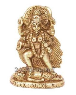 Maa Kali/Kaali Statue Brass Destroyer of Evil Figurine~India Art