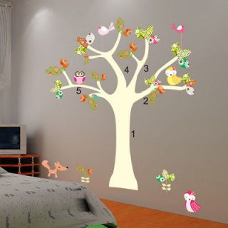 Cute Birds&Owl Tree Mural Art Removable Decals Wall Sticker Kids