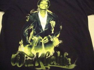 Wiz Khalifa 2011 Rolling Papers World Tour Shirt Rap Hip Hop T Shirt L