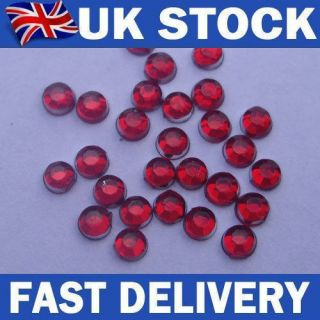 back Christmas Red diamante rhinestone gems   nail art, card making