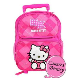 Sanrio Hello Kitty Small Rolling Backpack School Roller Bag Pink
