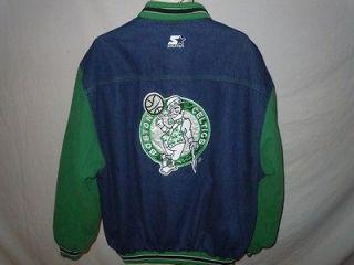 Vintage Boston Celtics NBA Basketball Denim Starter Jacket Sz XL